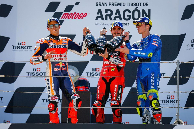 Pecco 'imbatible', logra su primera victoria en MotoGP